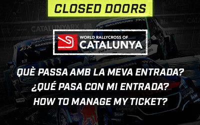 The World RX of Catalunya-Barcelona will be held without public, what should I do with my ticket?